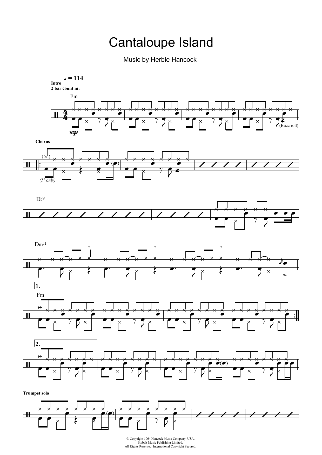 Cantaloupe Island Sheet Music Herbie Hancock Drums Cantaloupe music is a record label founded in march 2001 by the three founders of new york's bang on a can festival: cantaloupe island sheet music herbie hancock drums