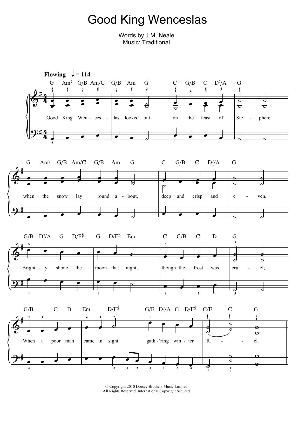good king wenceslas - sheet music to download  sheet music digital
