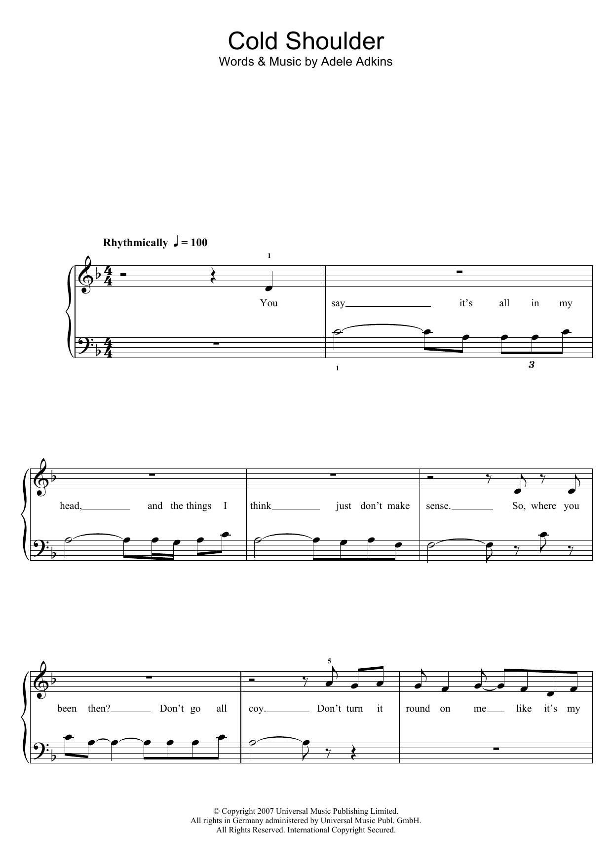 Sheet Music Digital Files To Print - Licensed Adele Digital