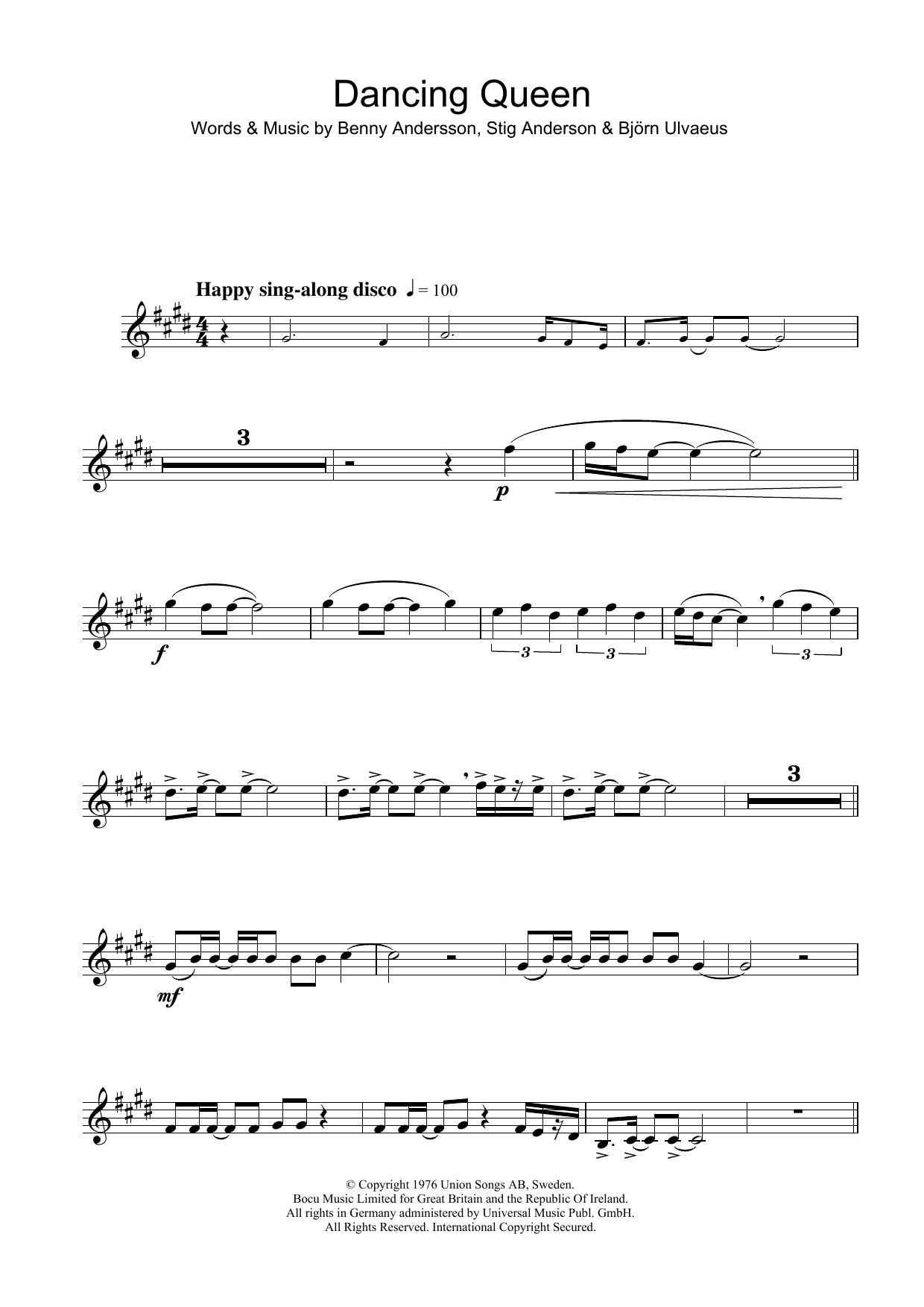 Dancing Queen (Alto Sax Solo)