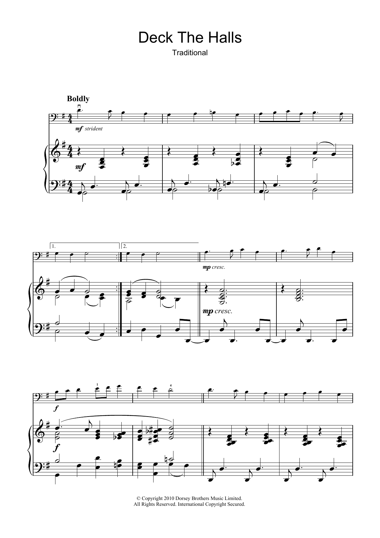 Deck The Halls Sheet Music | Christmas Carol | Cello Solo