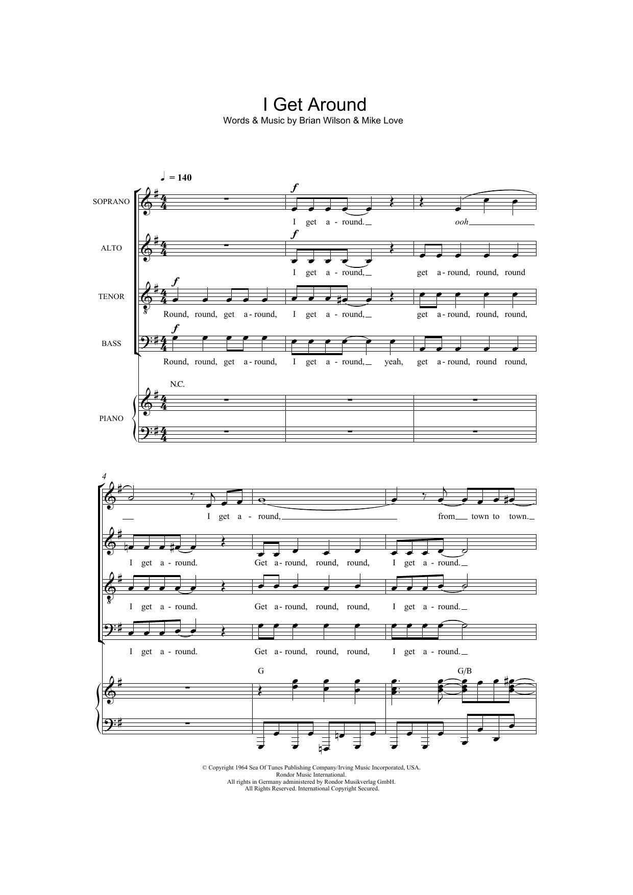 I Get Around (arr. Thomas Lydon) Sheet Music