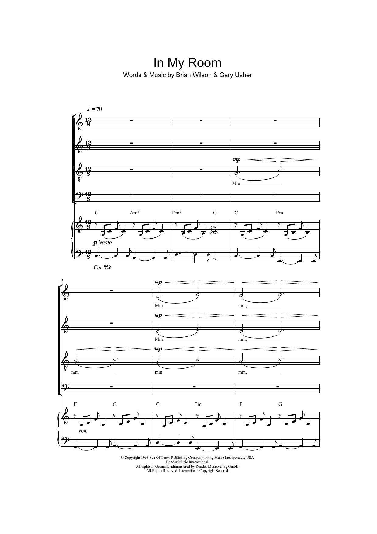 In My Room (arr. Jeremy Birchall) Sheet Music