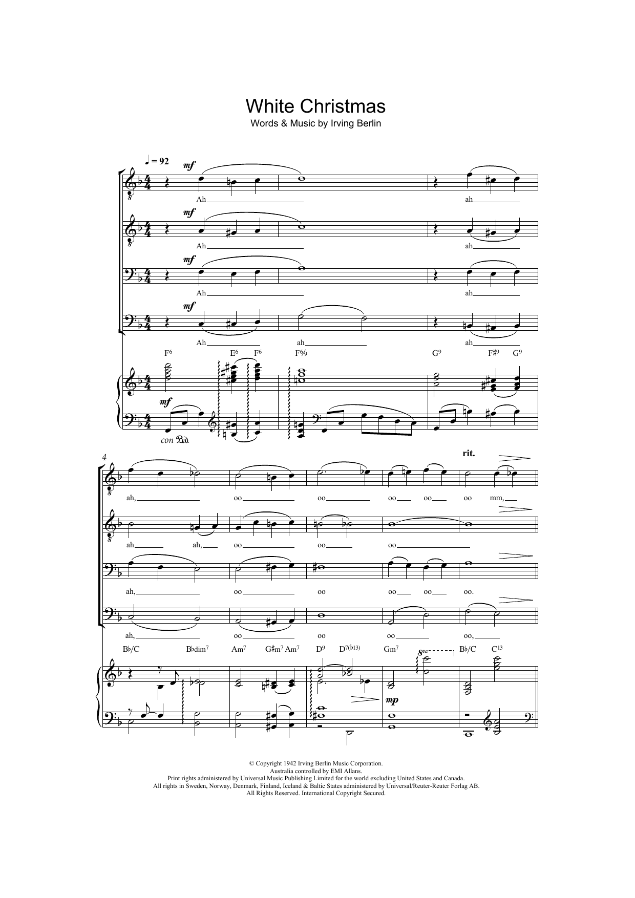 White Christmas Lyrics.White Christmas By Bing Crosby Guitar Chords Lyrics Digital Sheet Music