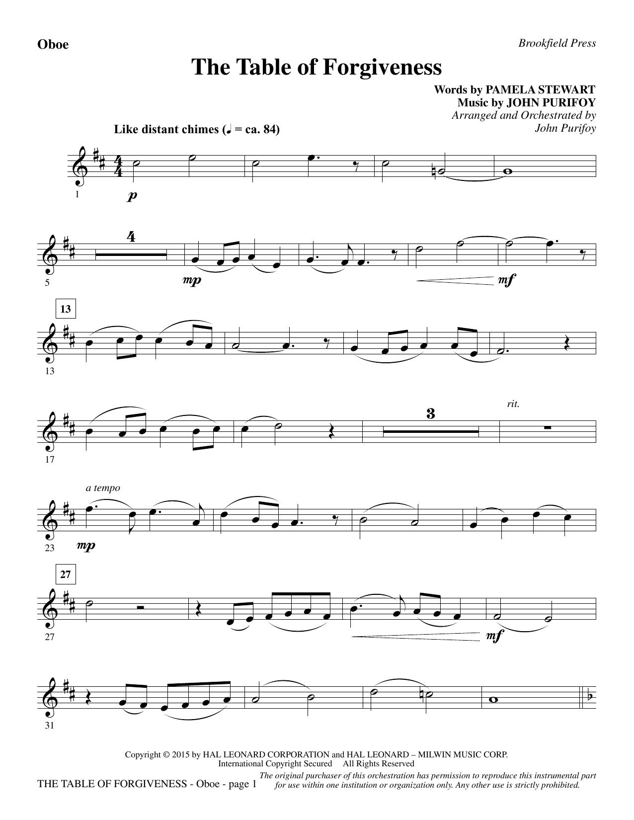 The Table of Forgiveness - Oboe (Choir Instrumental Pak)