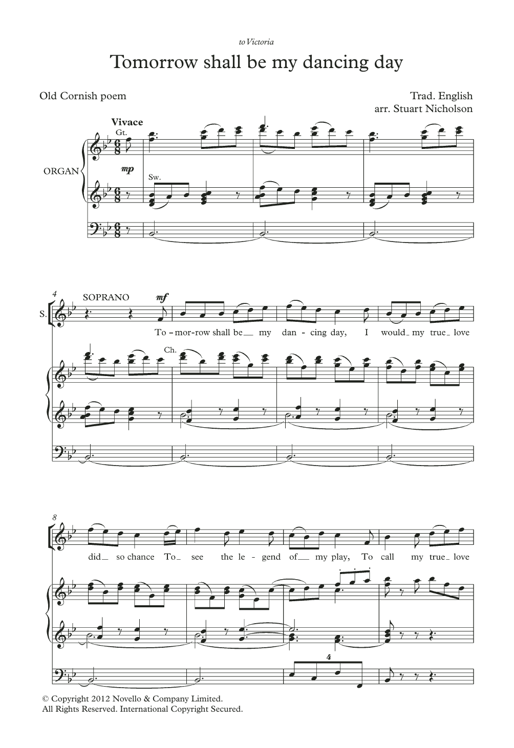 Tomorrow Shall Be My Dancing Day (arr. Stuart Nicholson) Sheet Music