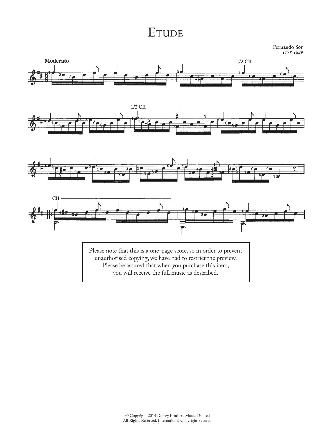 Etude Sheet Music
