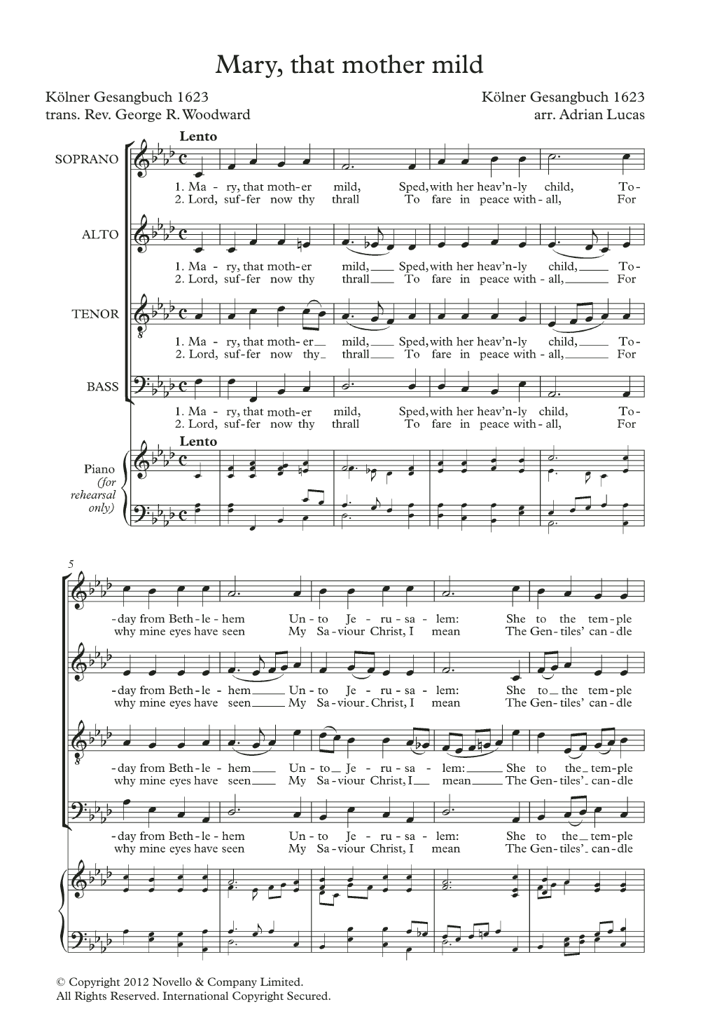 Mary, That Mother Mild Sheet Music
