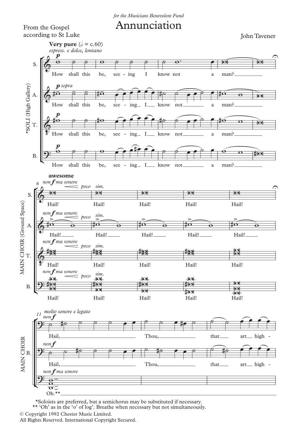 Annunciation Sheet Music