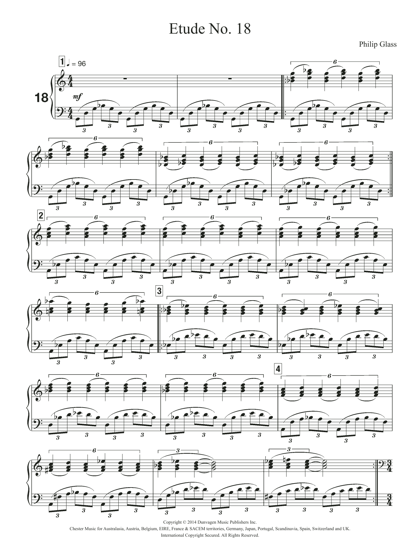 Etude No. 18 Sheet Music