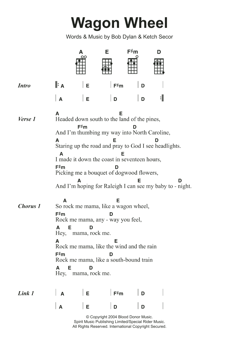 Wagon Wheel | Sheet Music Direct