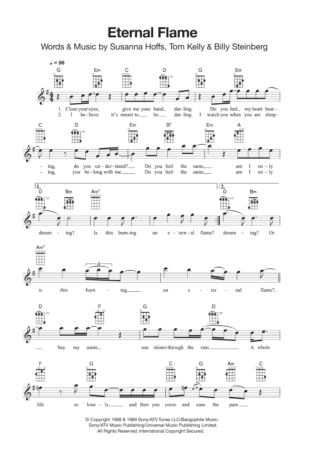 Eternal Flame Sheet Music