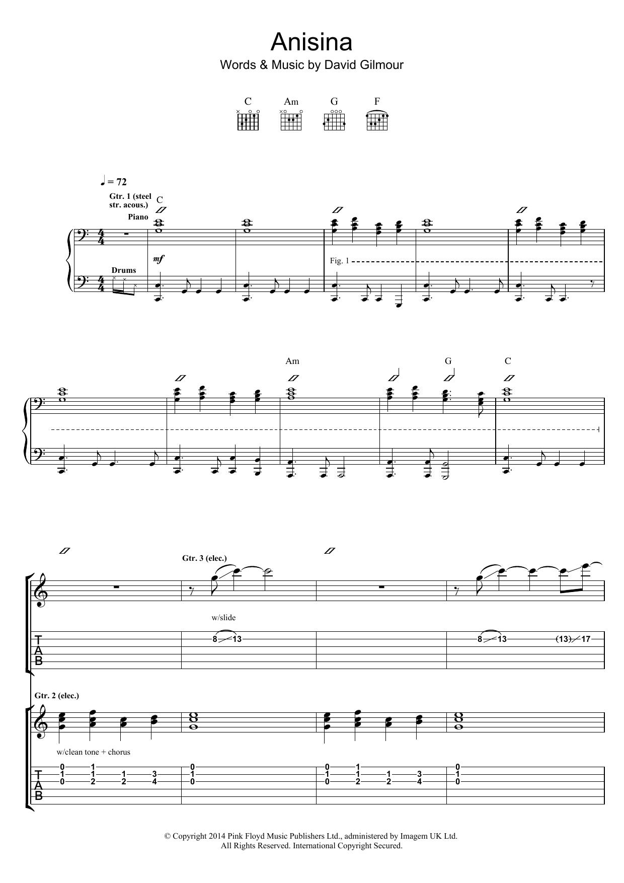 Anisina Sheet Music
