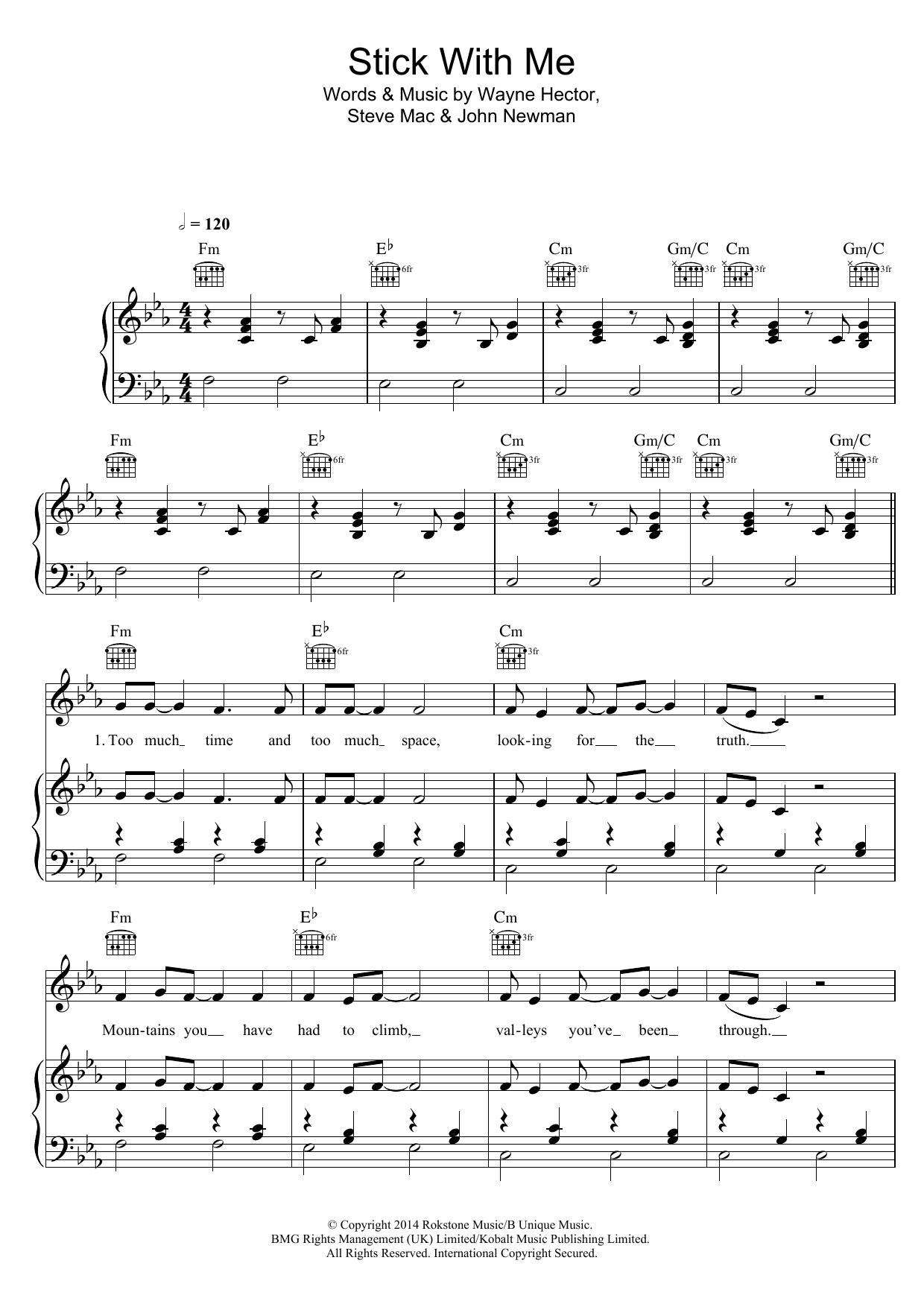 Stick With Me Sheet Music