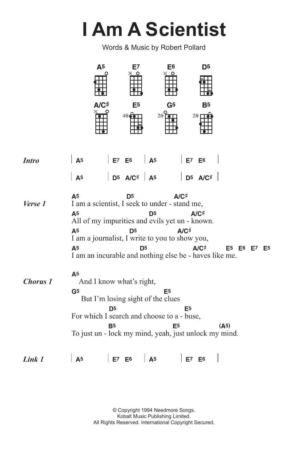 I Am A Scientist By The Dandy Warhols Ukulele Guitar Instructor