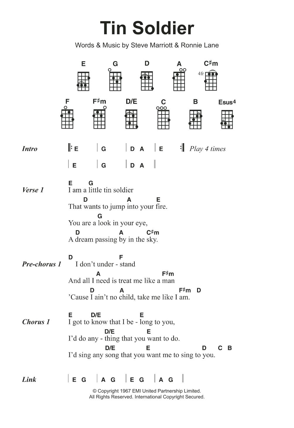Tin Soldier Sheet Music