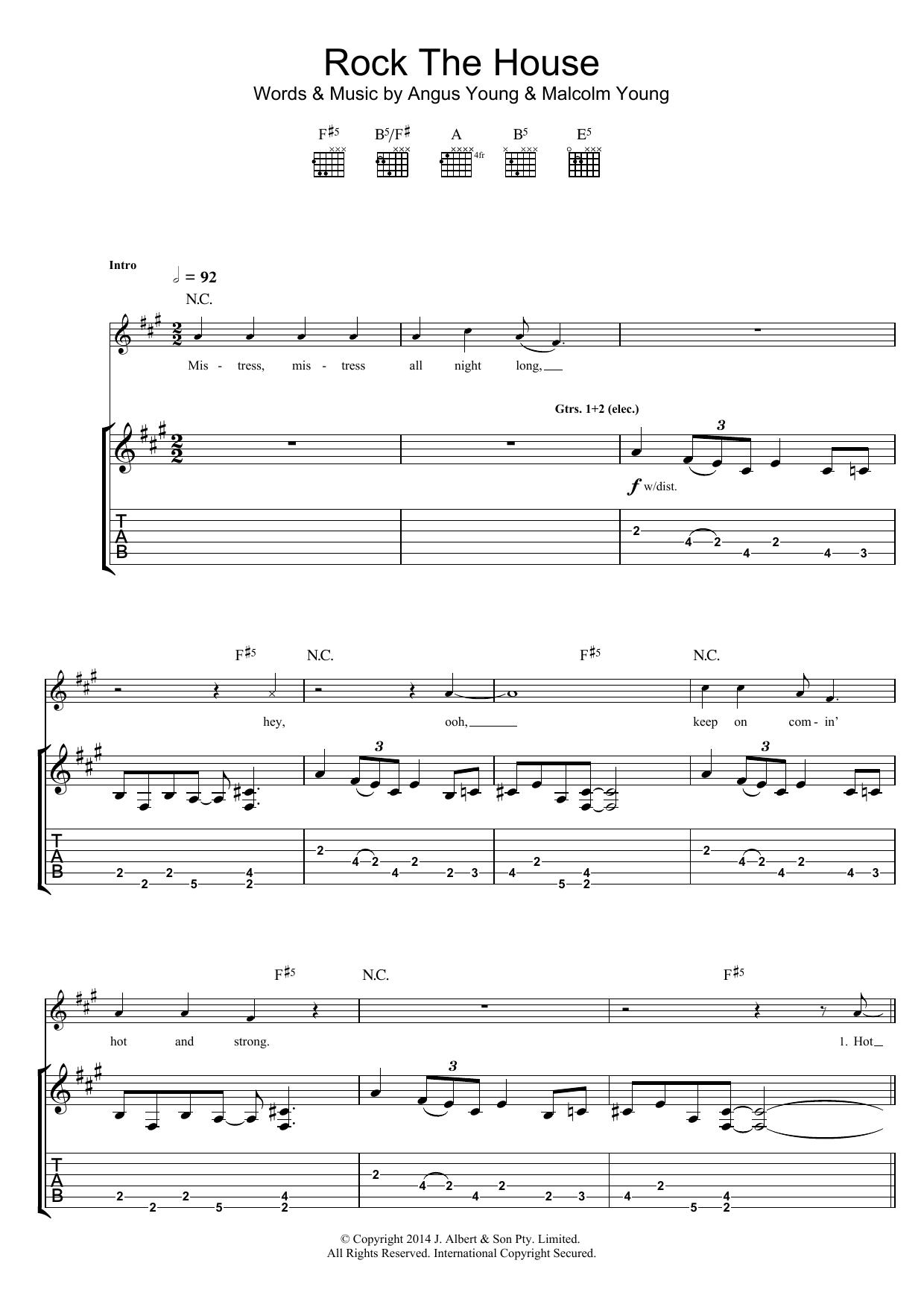 Rock The House Sheet Music