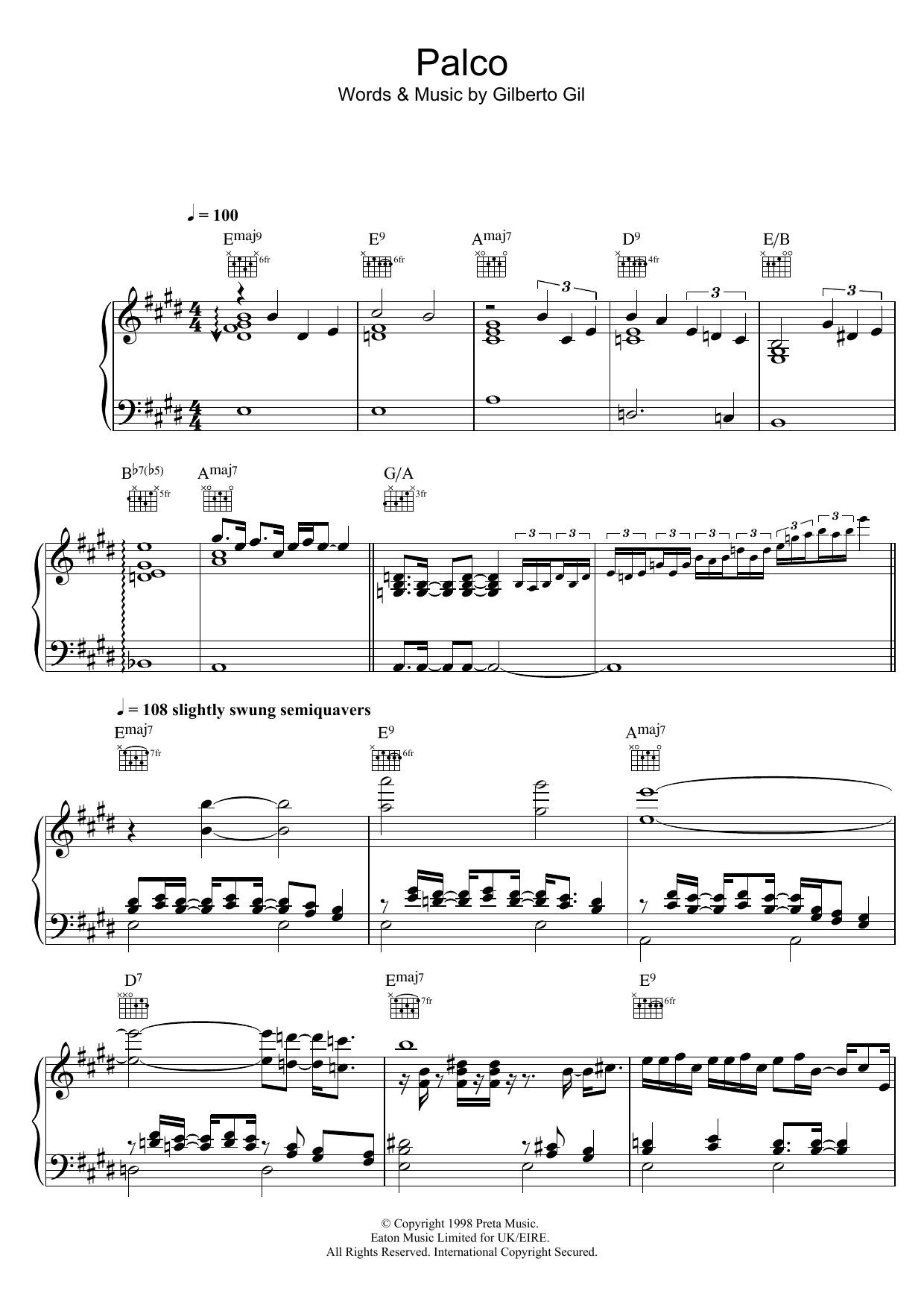 Palco Sheet Music