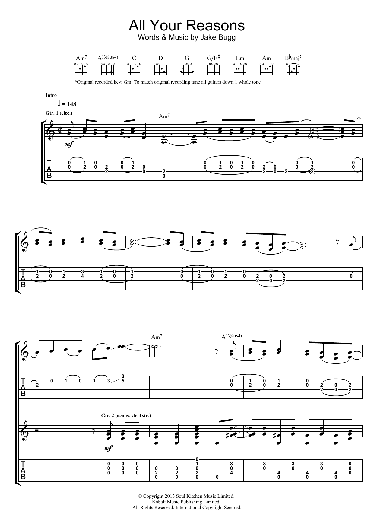 All Your Reasons Sheet Music