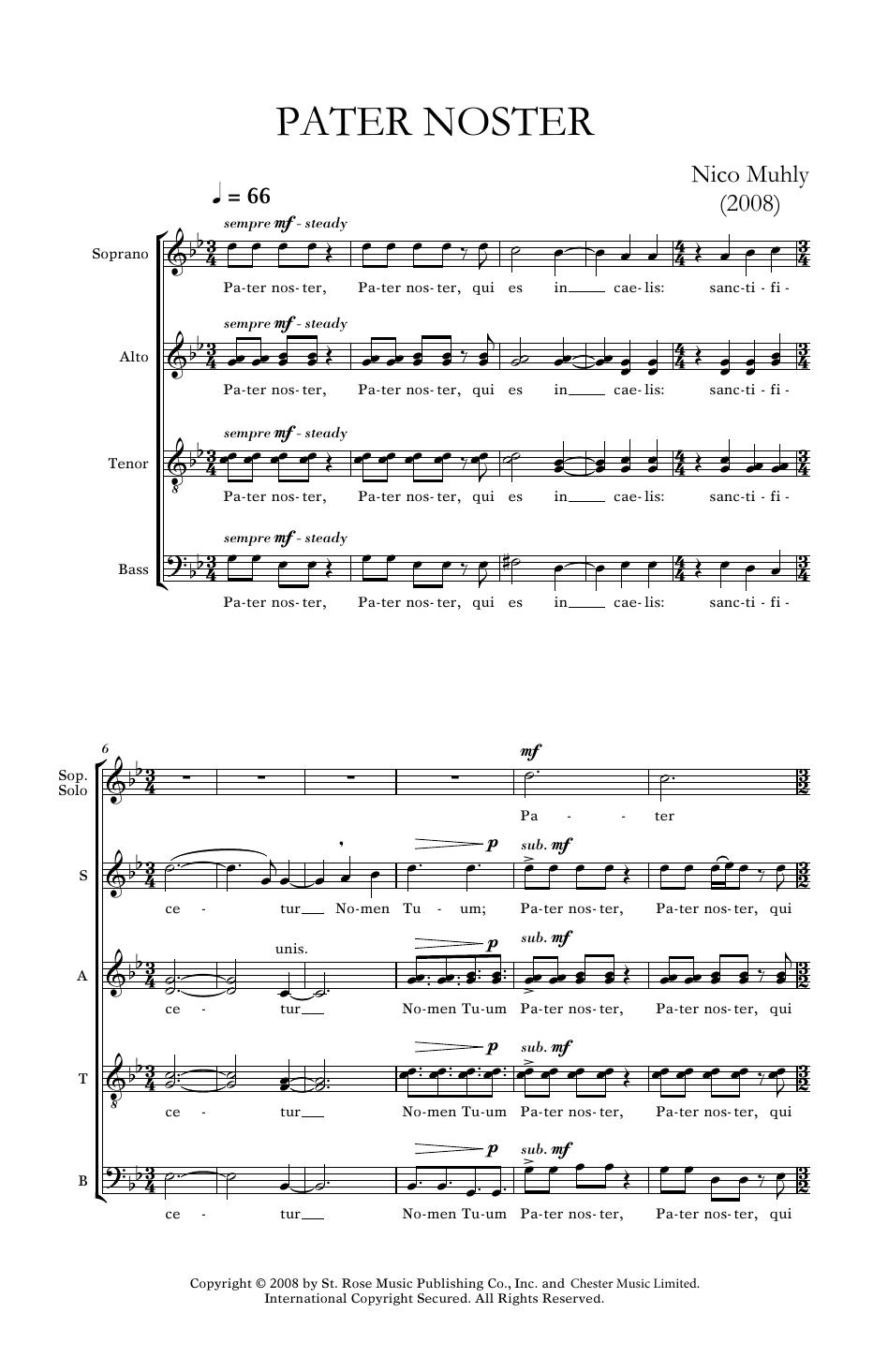Pater Noster Sheet Music