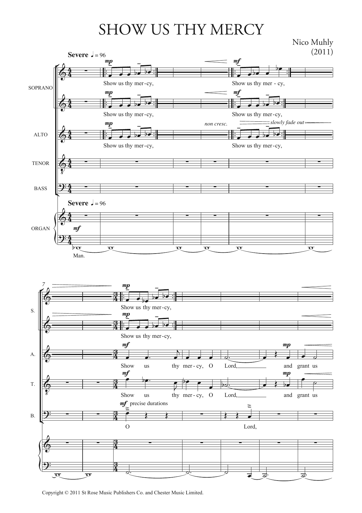 Show Us Thy Mercy Sheet Music