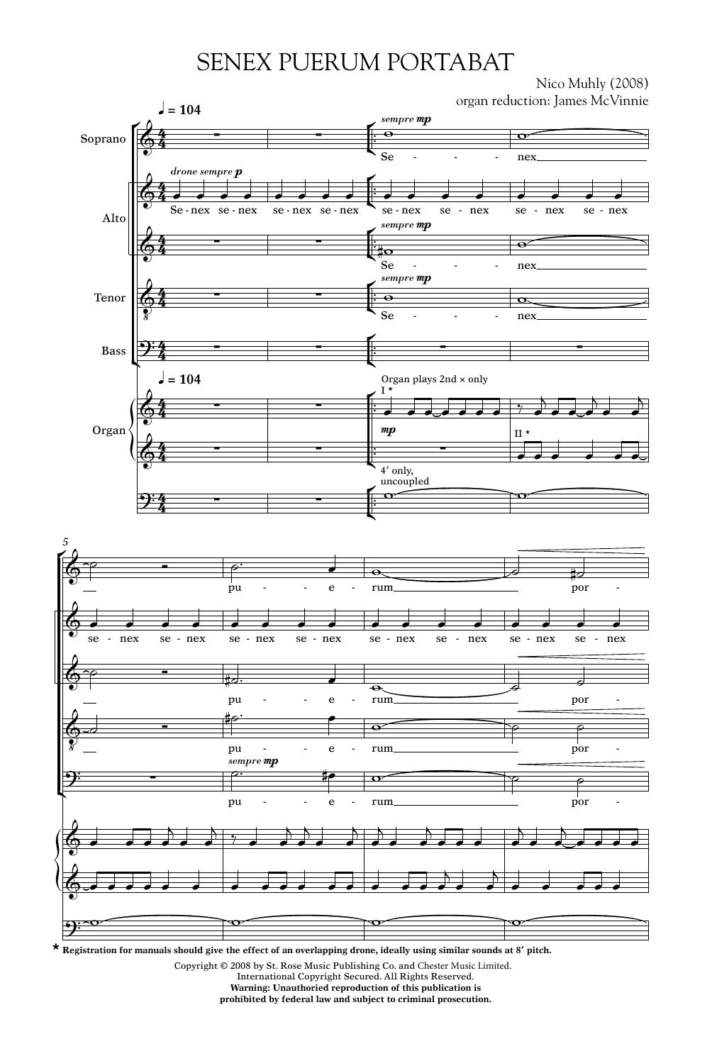 Senex Puerum Portabat Sheet Music