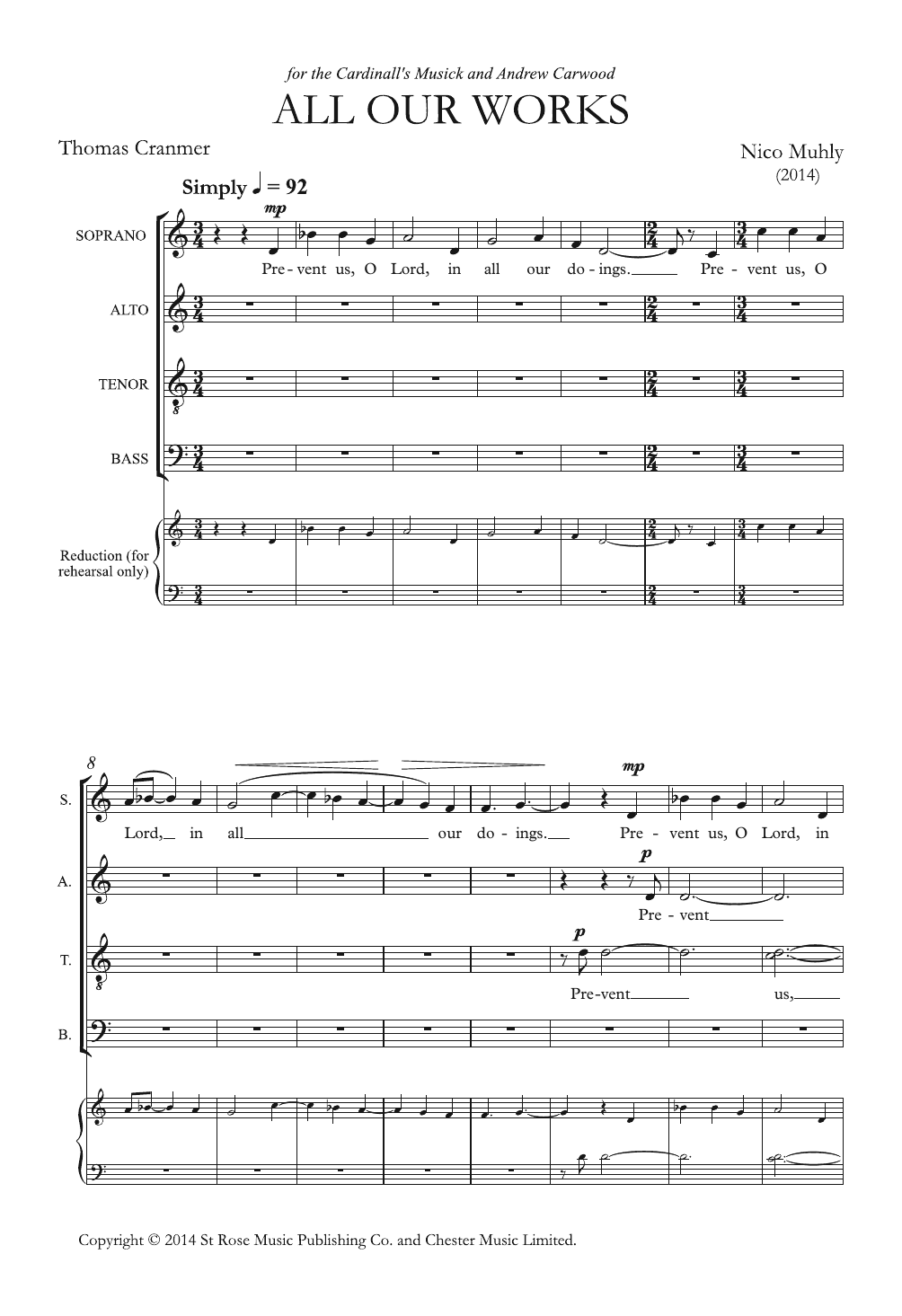 All Our Works Sheet Music