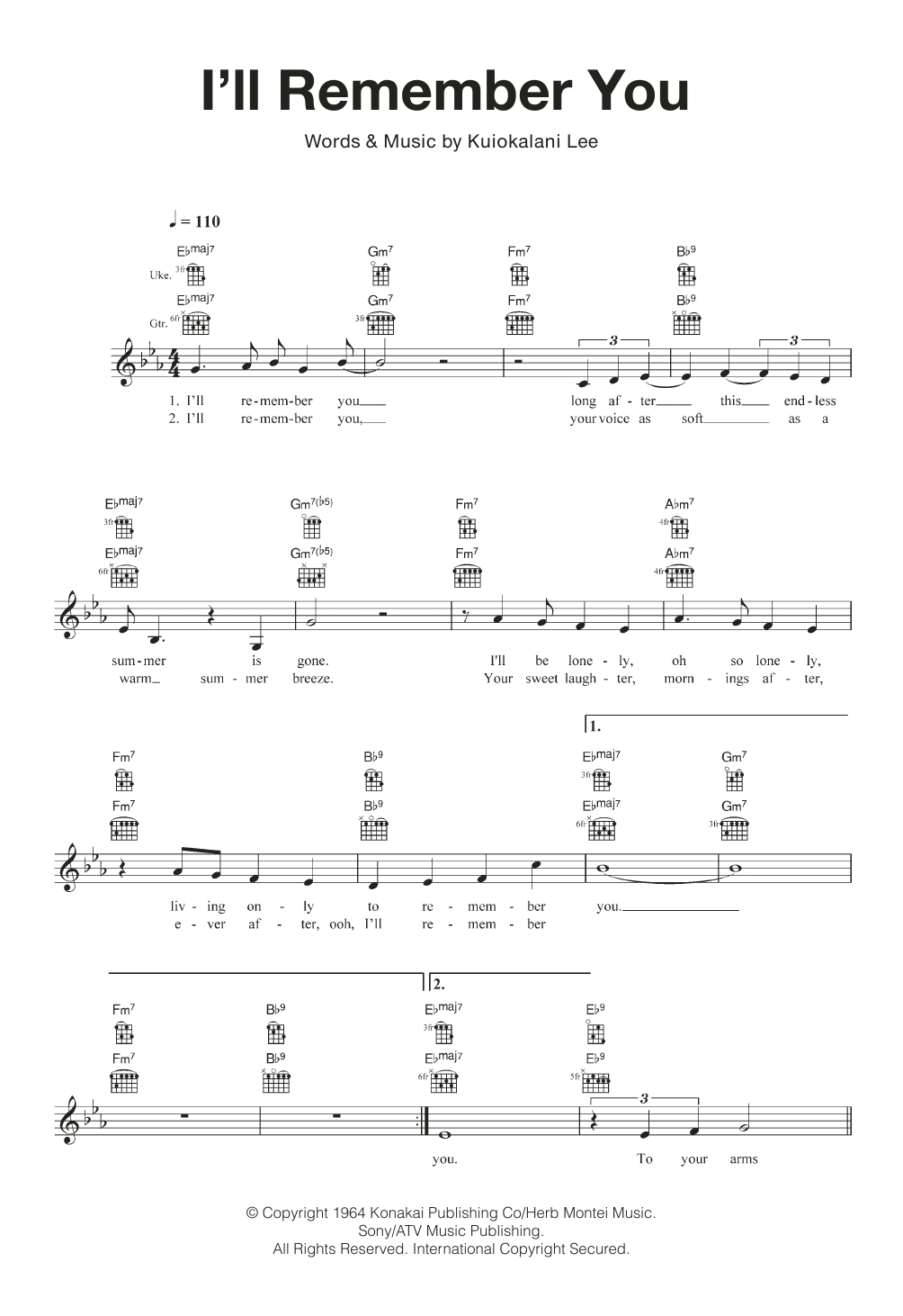 I'll Remember You Sheet Music