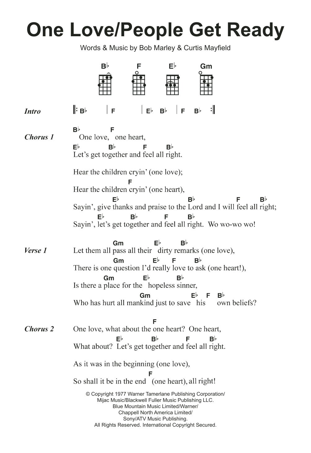 One Love/People Get Ready Sheet Music