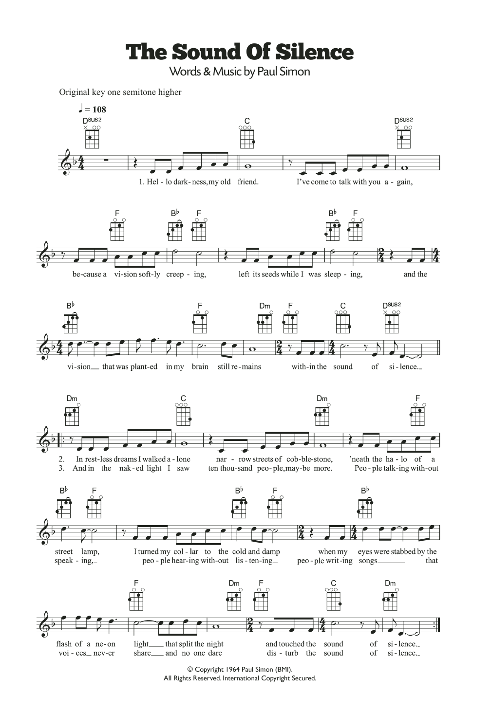 The Sound Of Silence Sheet Music