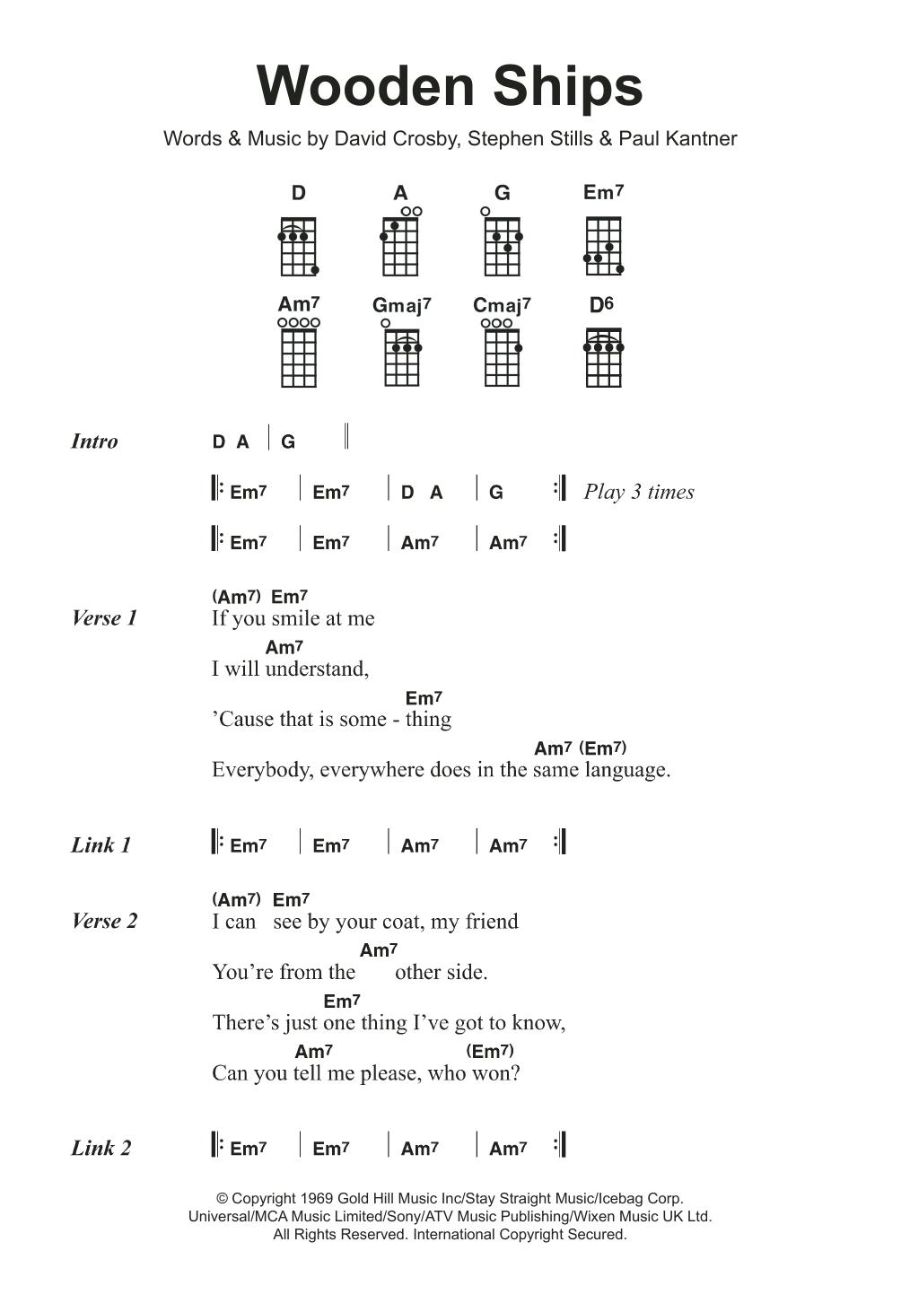 Sheet Music Digital Files To Print - Licensed David Crosby Digital
