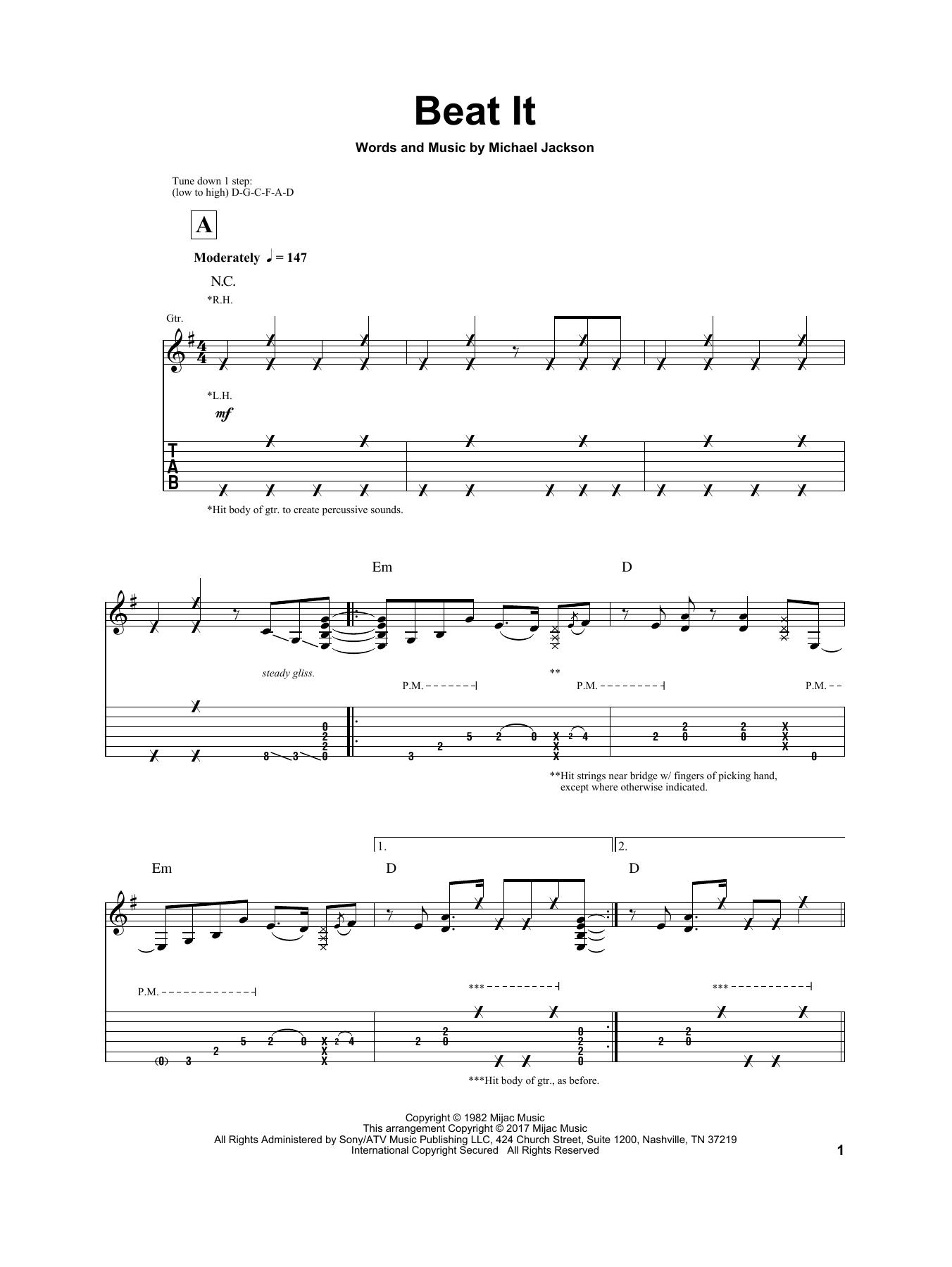 Beat it guitar solo - YouTube