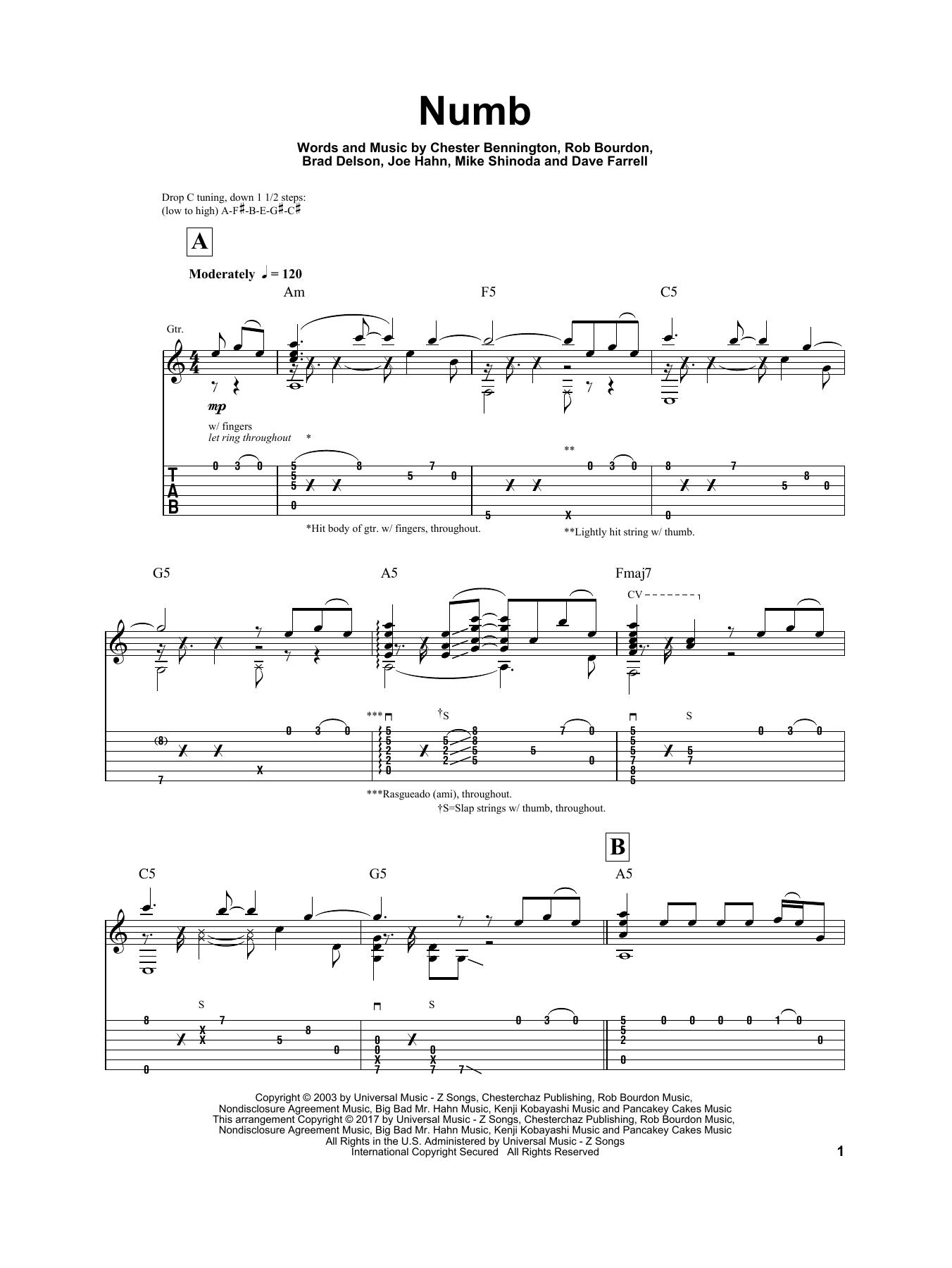 Tablature guitare Numb de Igor Presnyakov - Autre