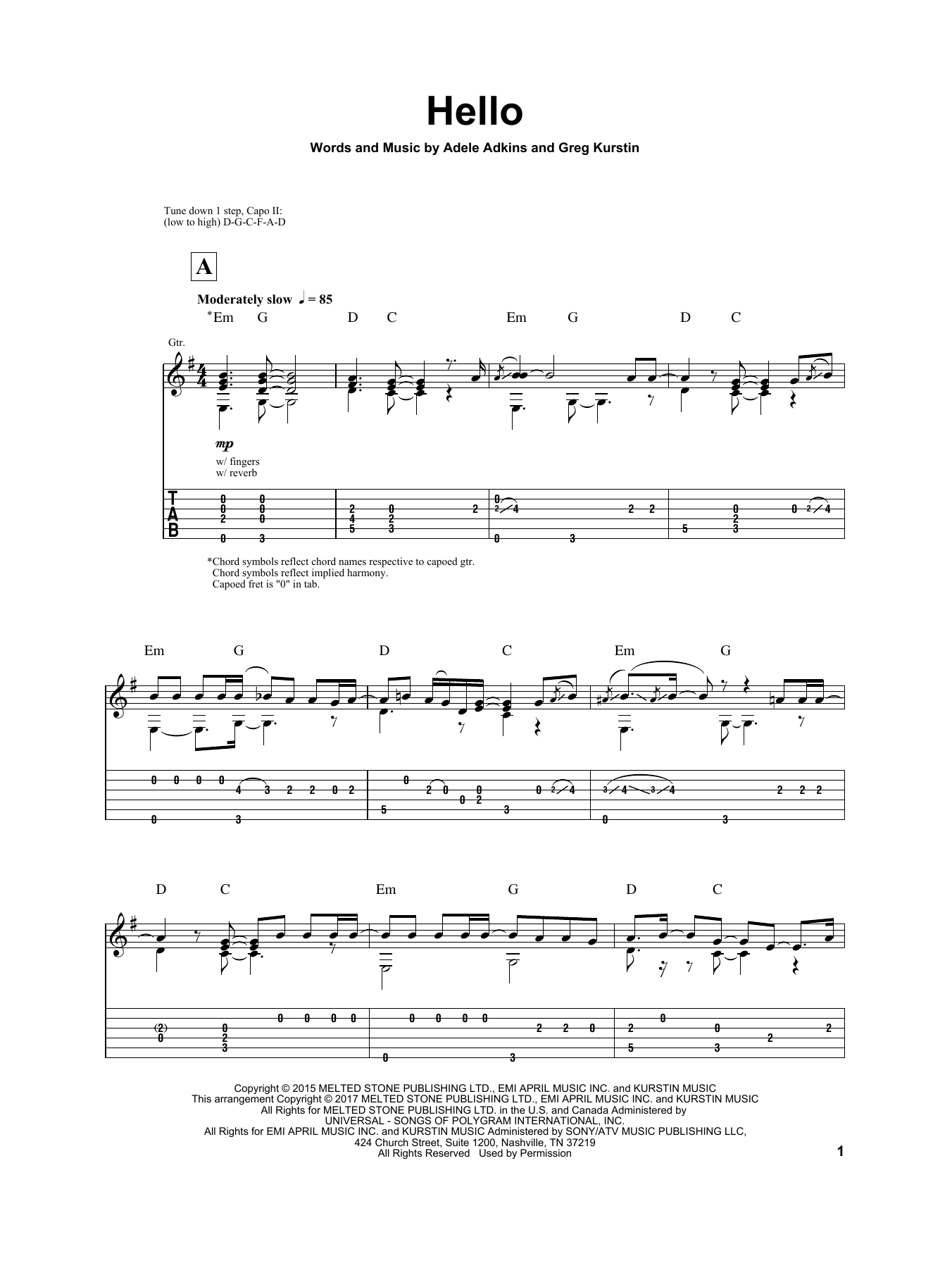 Hello (Guitar Tab)
