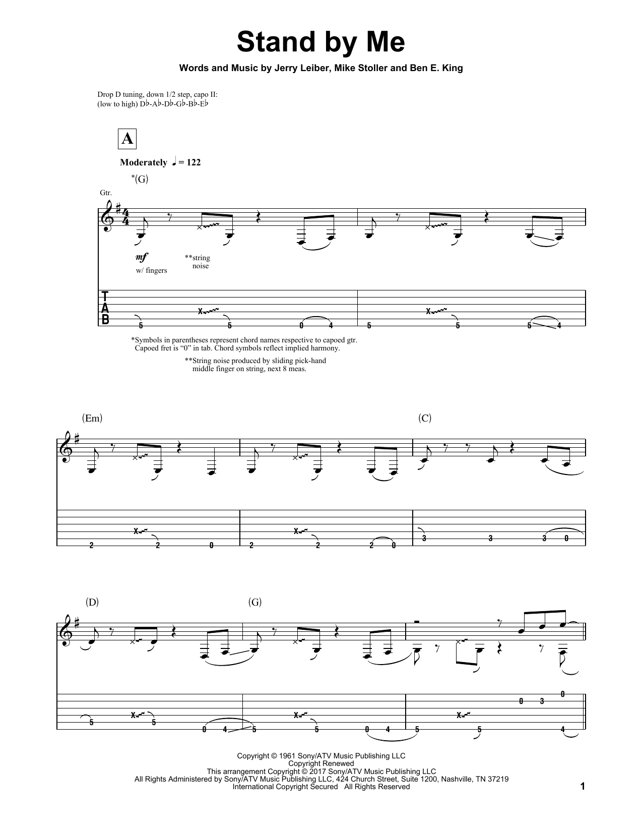 Stand By Me (Solo Guitar Tab)