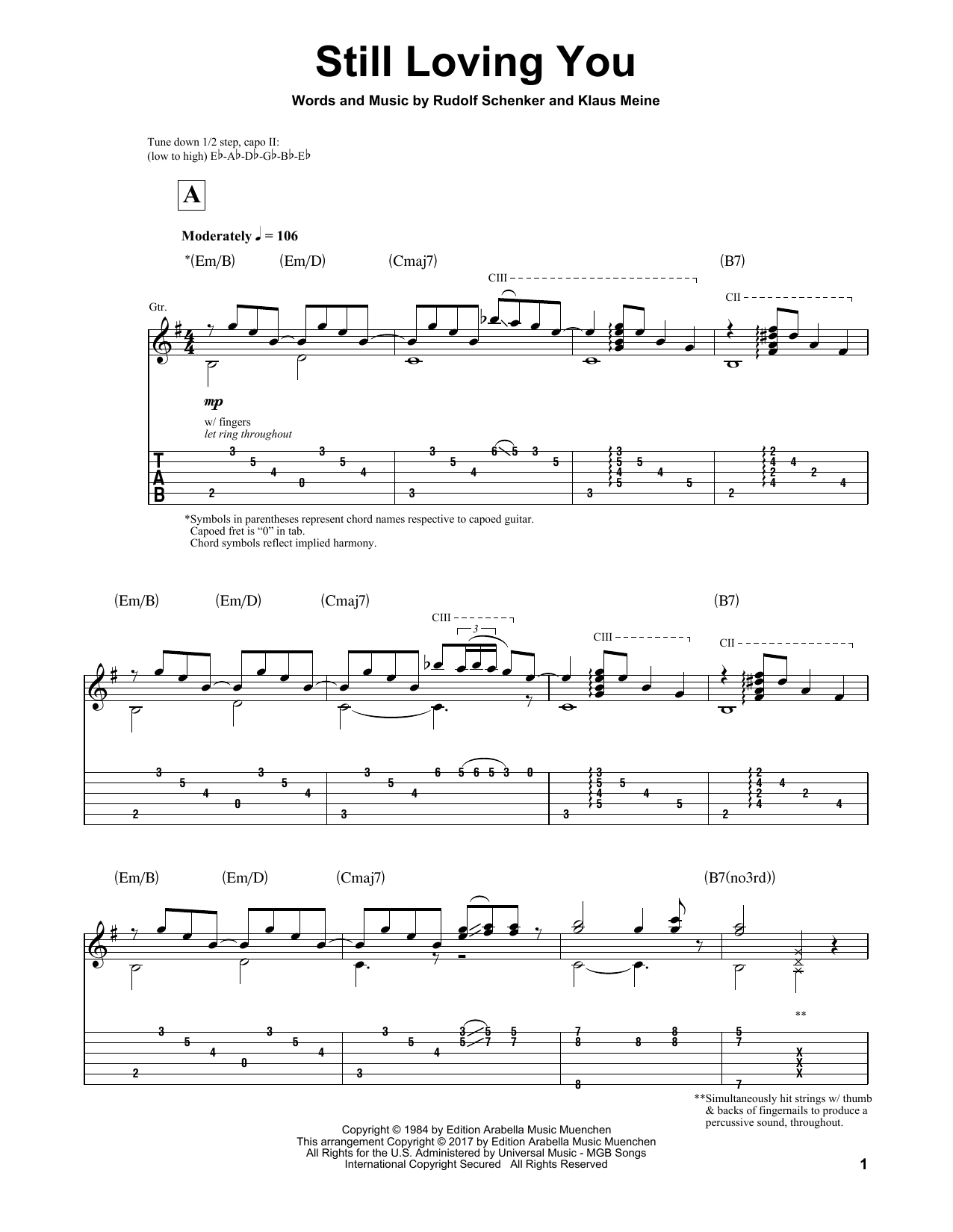 Still Loving You Sheet Music
