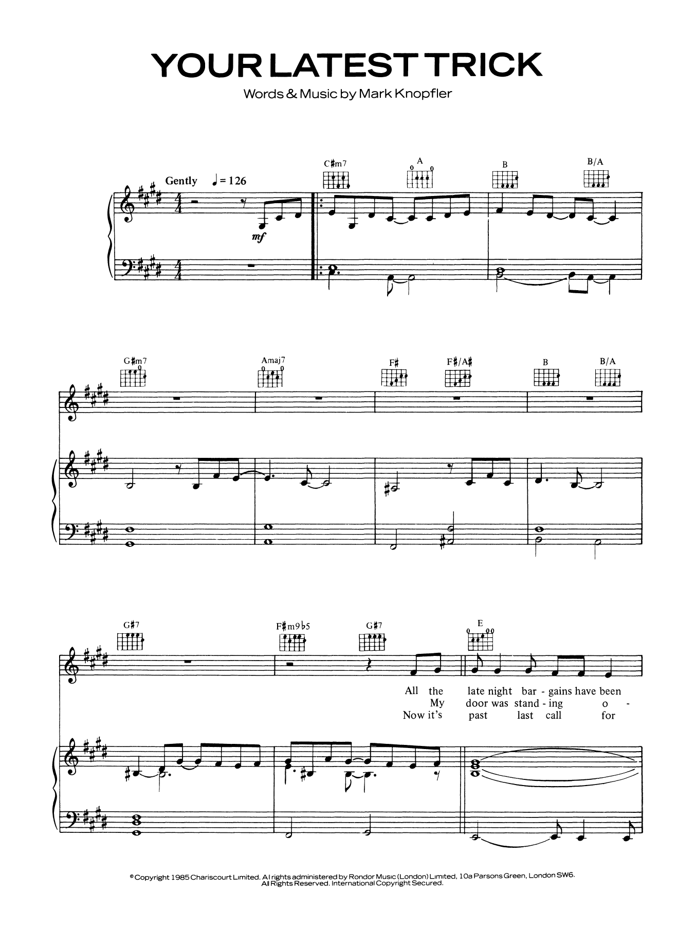 Your Latest Trick Sheet Music