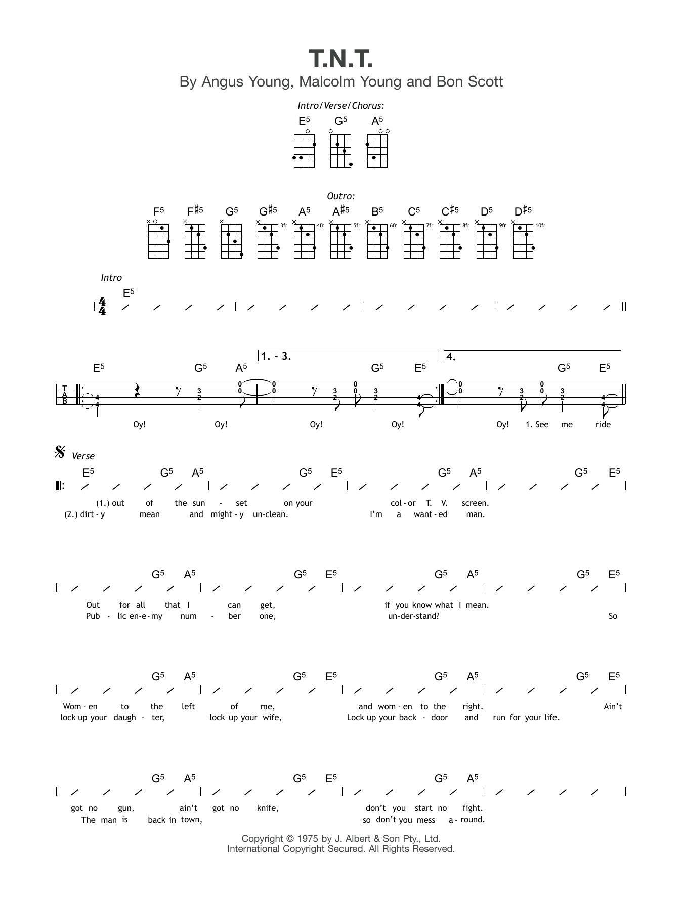 T.N.T. Sheet Music