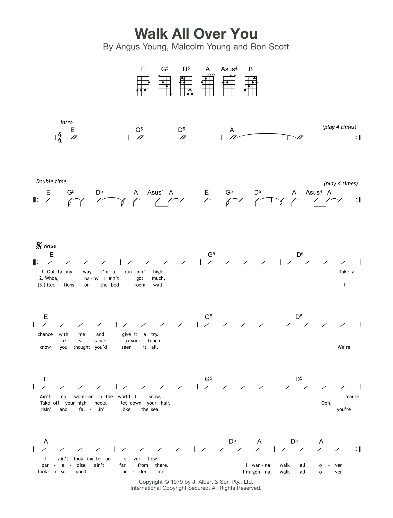 Walk All Over You Sheet Music