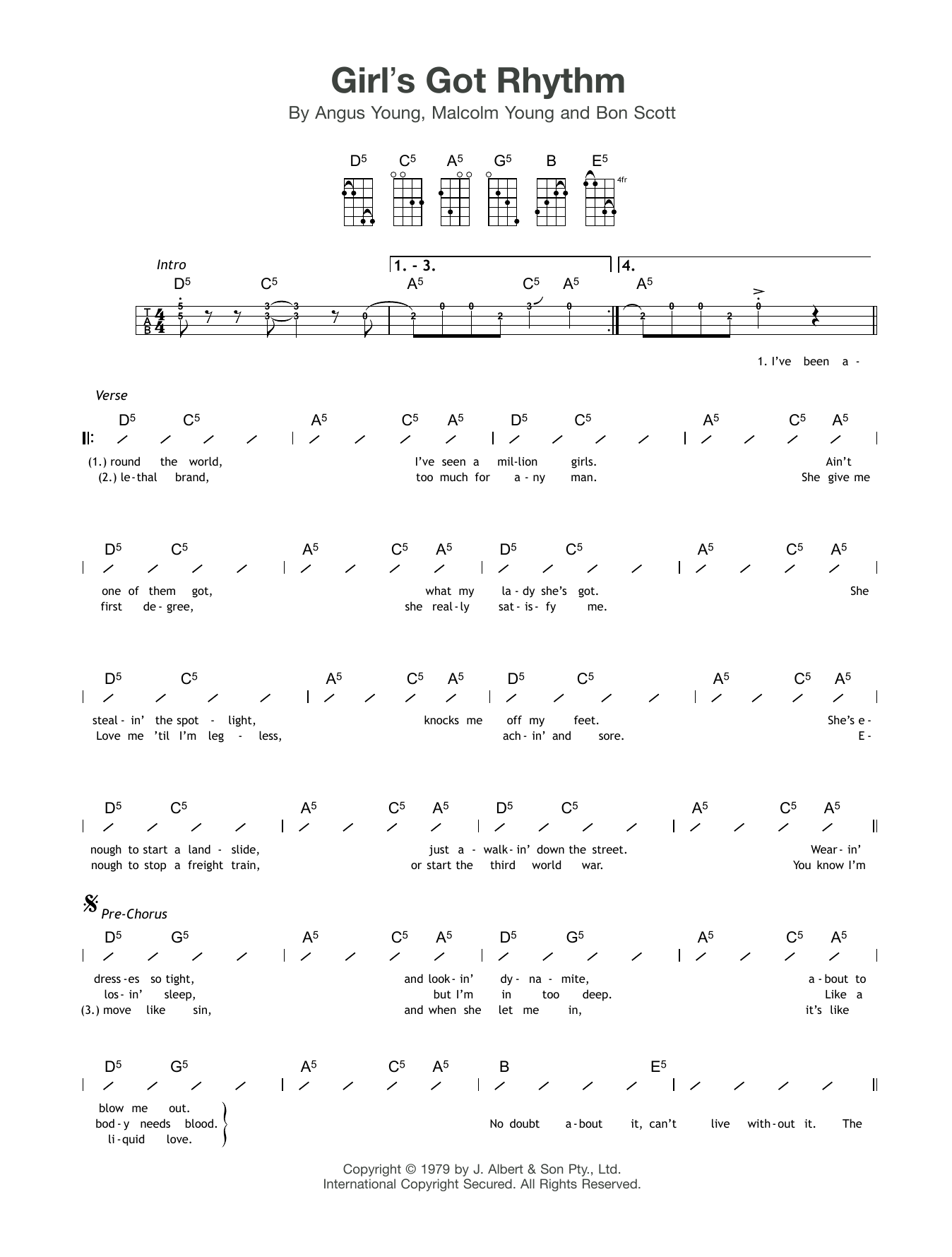 Girl's Got Rhythm Sheet Music