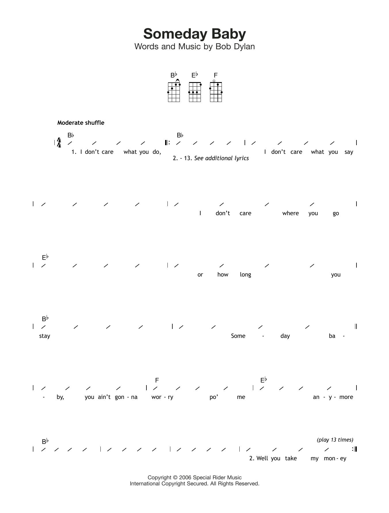 Someday Baby Sheet Music