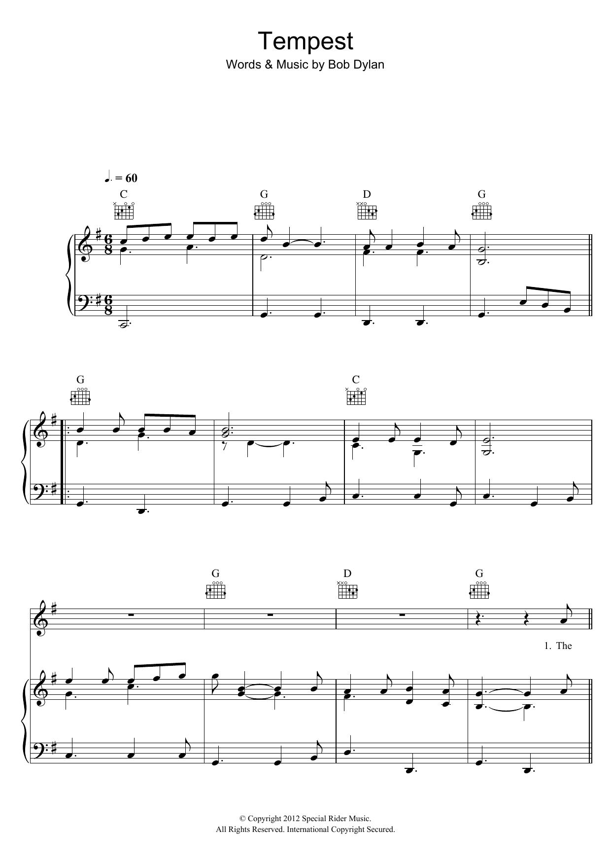 Tempest Sheet Music
