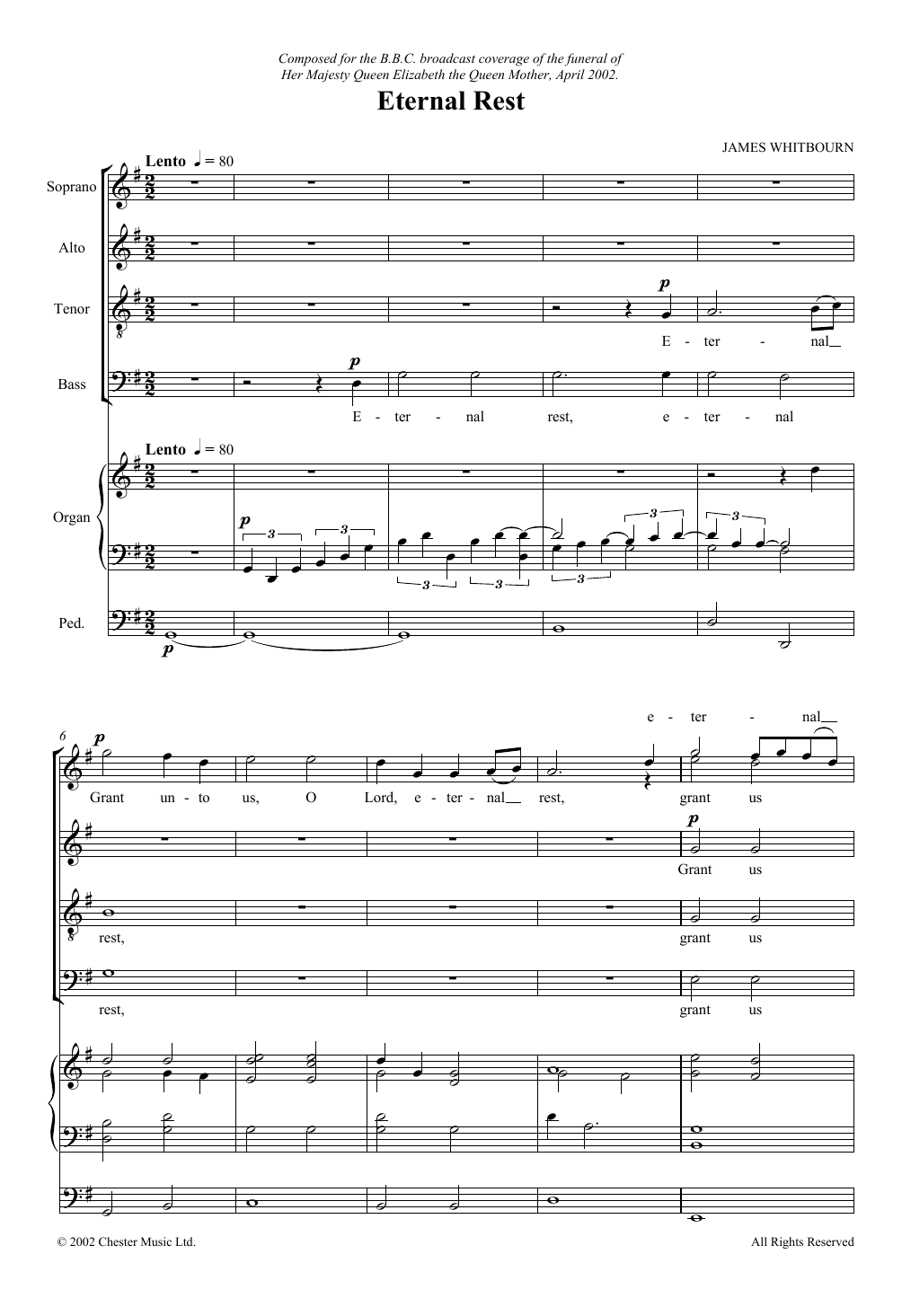 Eternal Rest Sheet Music
