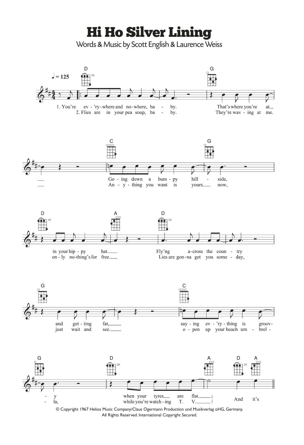 Hi Ho Silver Lining by Jeff Beck - Ukulele - Guitar Instructor