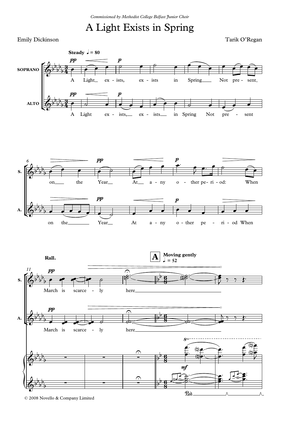 A Light Exists In Spring Sheet Music