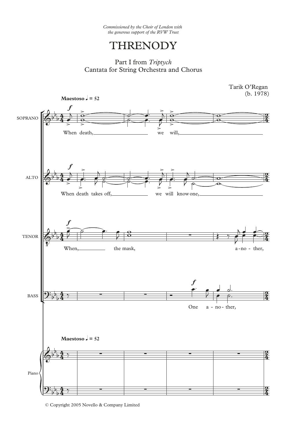 Threnody Sheet Music