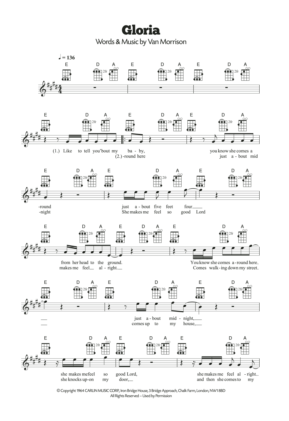 Gloria Sheet Music