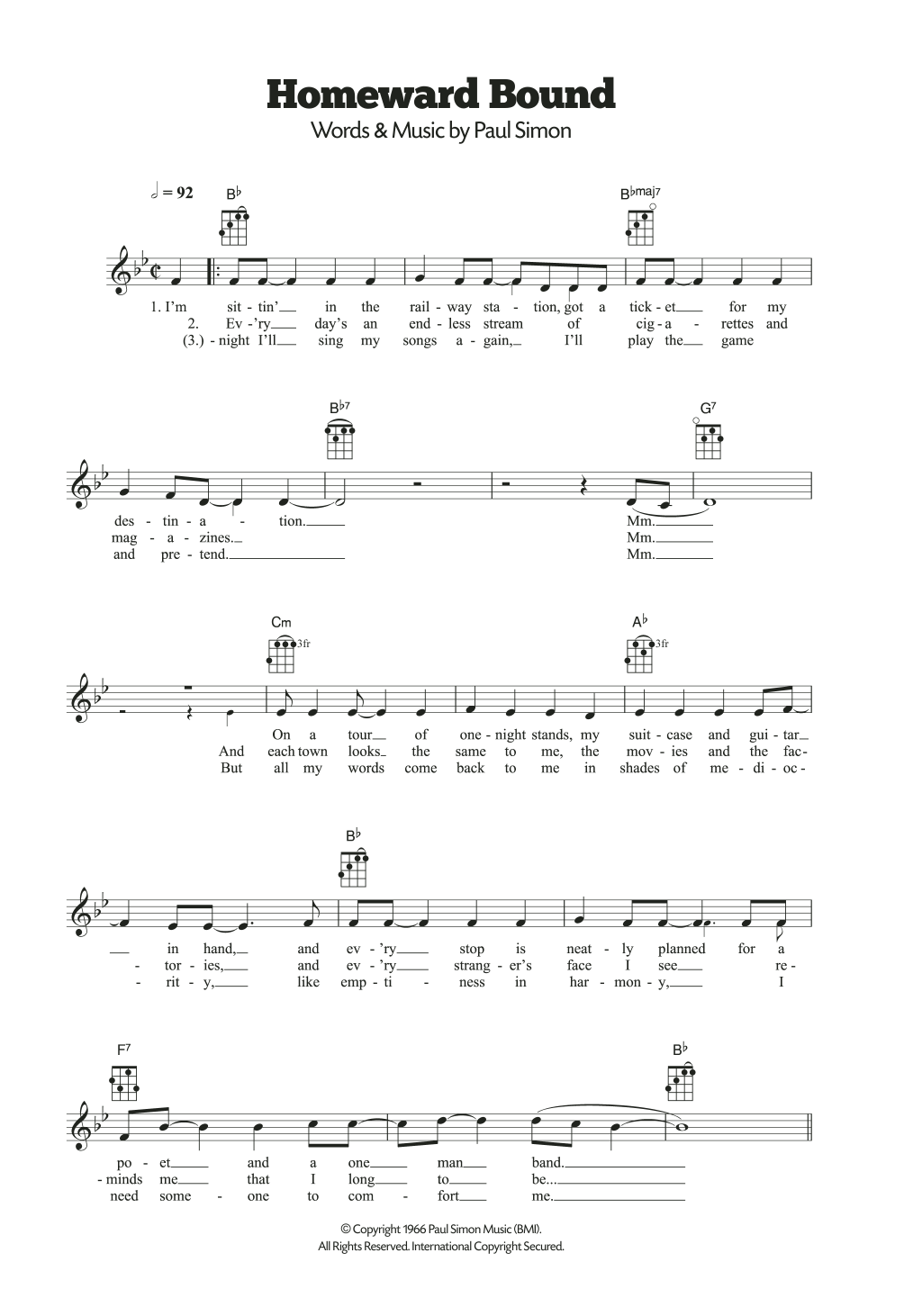 Homeward bound guitar chords