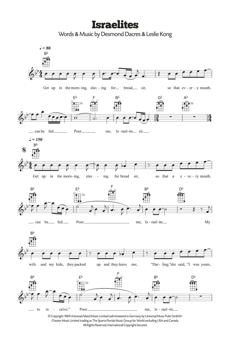 Israelites Sheet Music
