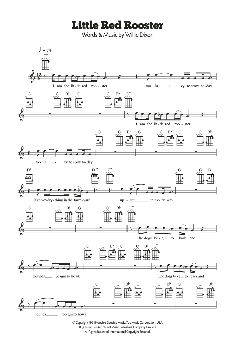 Little Red Rooster Sheet Music